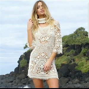 Other - Beach bikinis cover openwork lace Dress Sexy Hollo